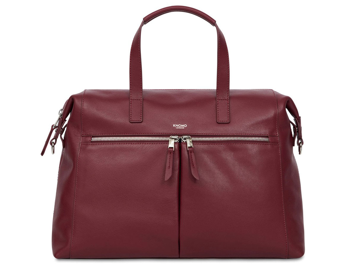 d962db3afa4 Knomo Audley Tote Rood Leer - 14 inch Dames Laptoptas ...