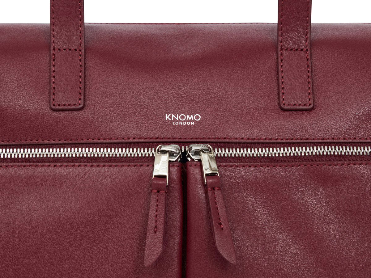 c171583f261 ... Knomo Audley Tote Rood Leer - 14 inch Dames Laptoptas ...