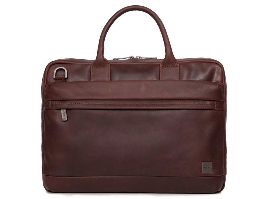 Knomo Foster Slim Brief - Leren Laptoptas tot 15 inch
