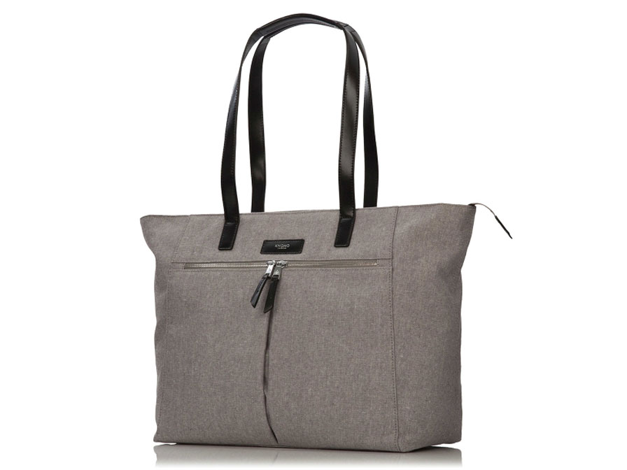 Knomo Grosvenor Shoulder Top Zip Tote - Laptoptas tot 15 inch (Grijs)