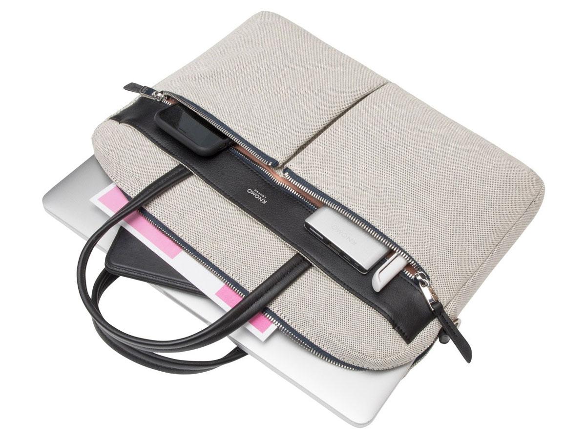 bcc031bf2a6 ... Knomo Hanover Slim Brief Canvas - Dames Laptoptas 14