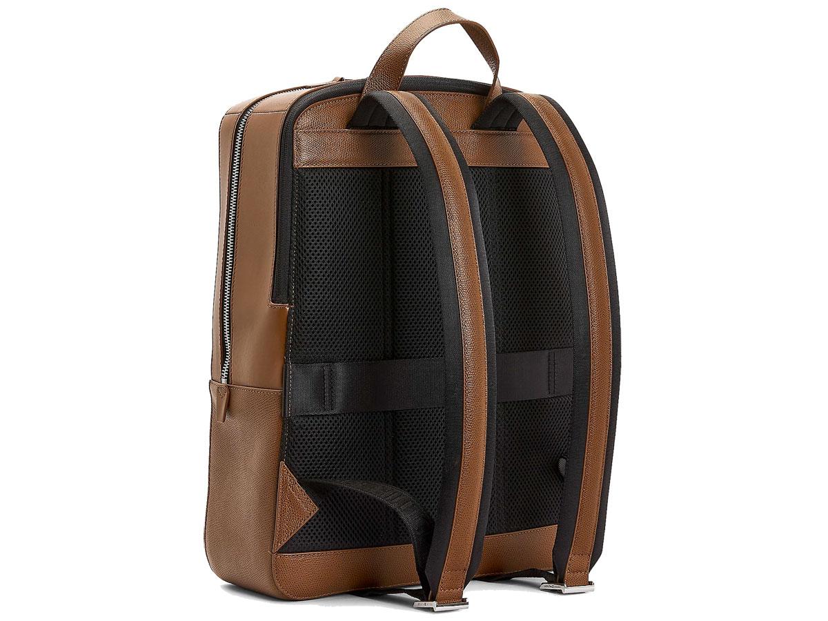 Tommy Hilfiger Business Backpack Cognac - Laptop Rugzak Leer