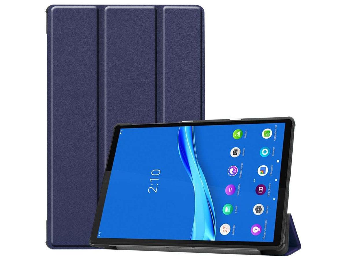 Smart Tri-Fold Bookcase Blauw - Lenovo Tab M10 Plus Hoesje