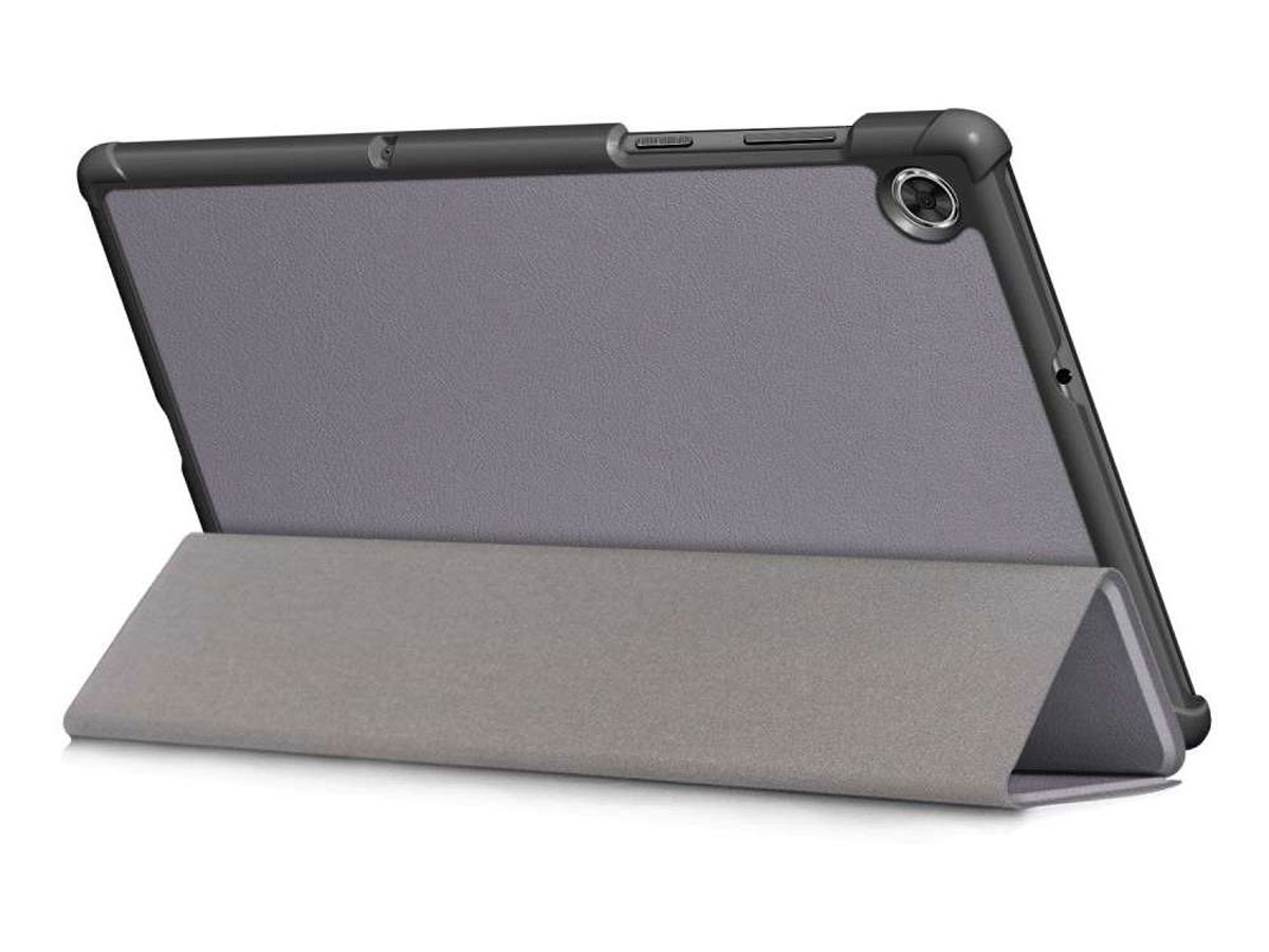 Smart Tri-Fold Bookcase Grijs - Lenovo Tab M10 Plus Hoesje