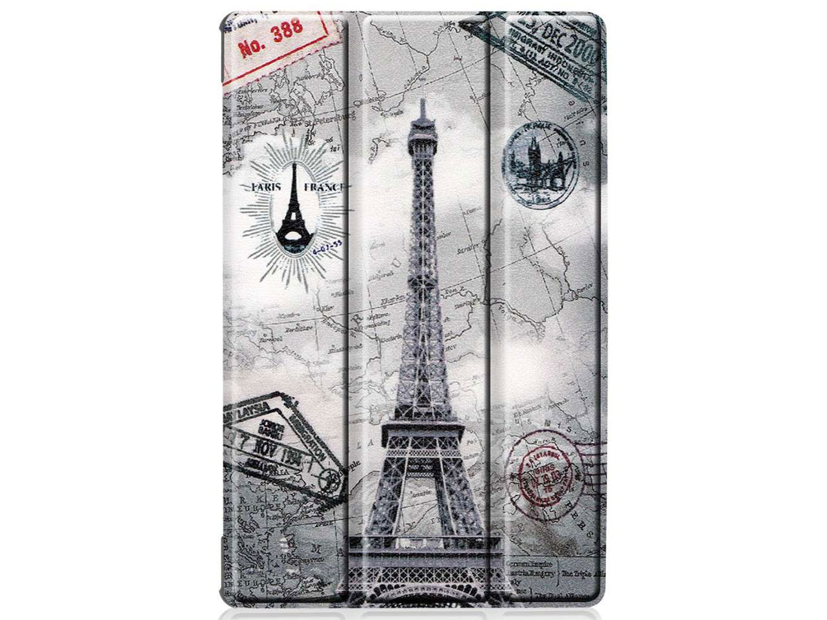Smart Tri-Fold Bookcase Retro Paris - Lenovo Tab M10 Plus Hoesje