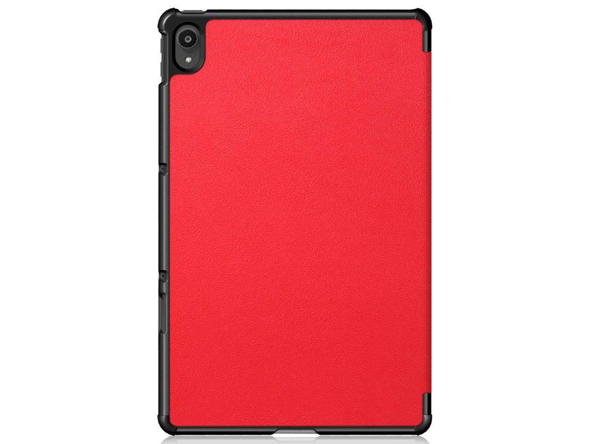 Smart Tri-Fold Bookcase Rood - Lenovo Tab P11 Hoesje