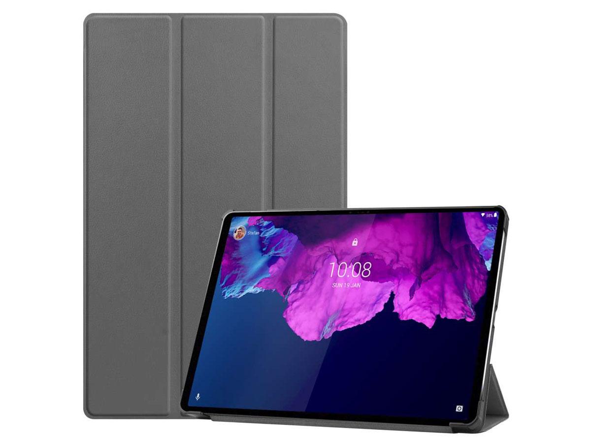 Smart Tri-Fold Bookcase Grijs - Lenovo Tab P11 Pro Hoesje