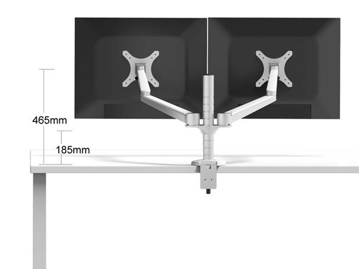 Monitor Arm Dubbel - 2 Beeldschermen - Aluminium MA3