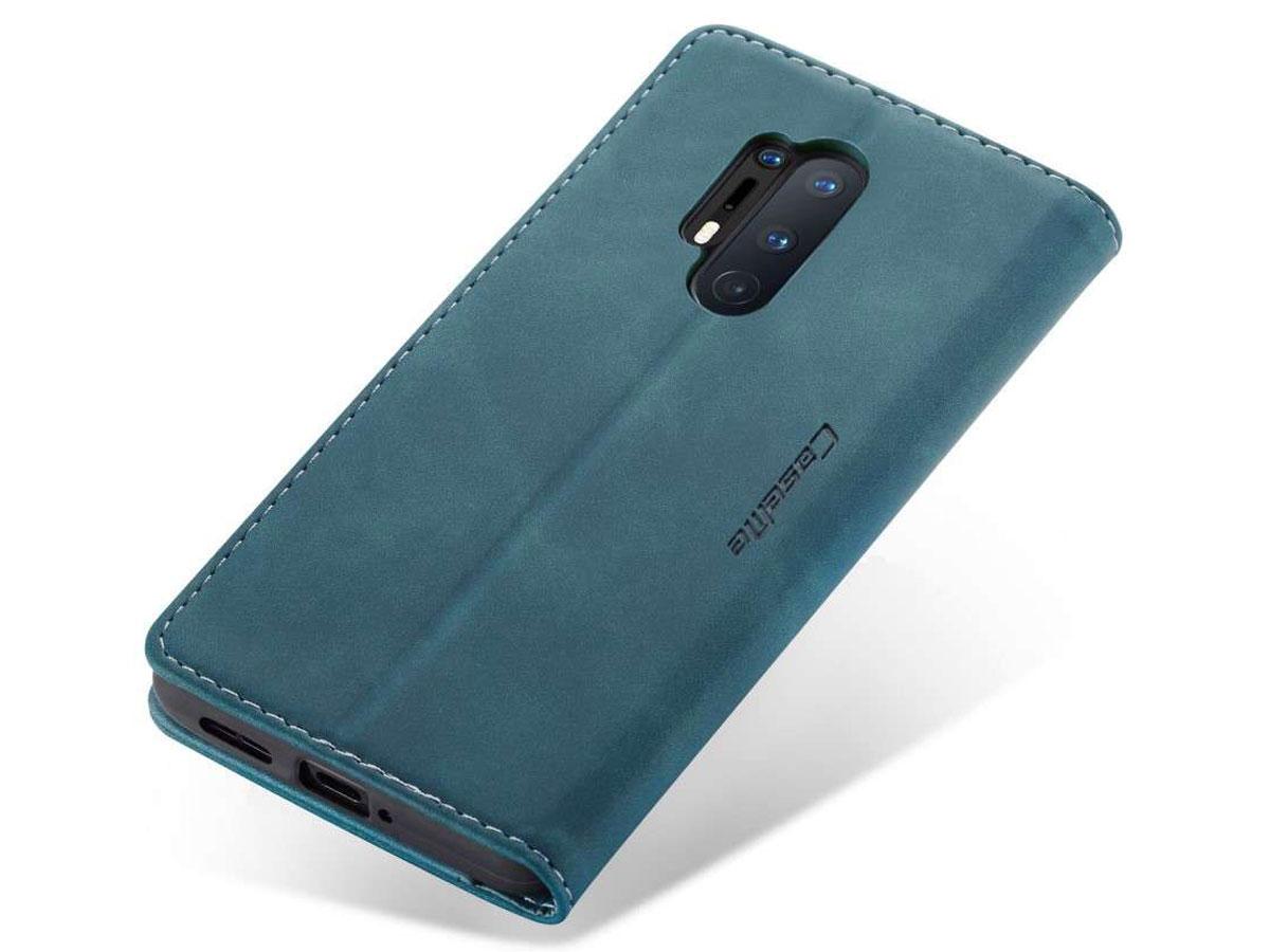 CaseMe Vintage BookCase Blauw - OnePlus 8 Pro hoesje