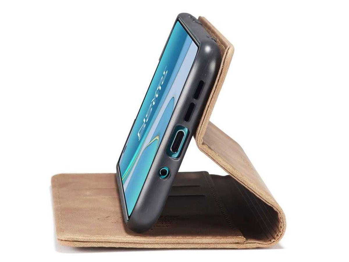 CaseMe Vintage BookCase Tan - OnePlus 8T hoesje