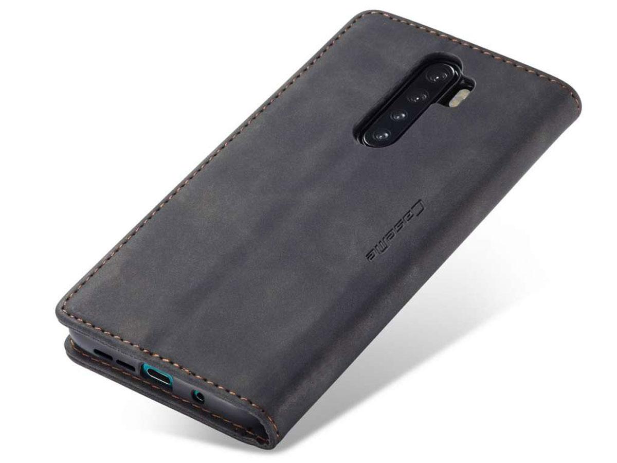 CaseMe Vintage BookCase Zwart - OnePlus Nord hoesje