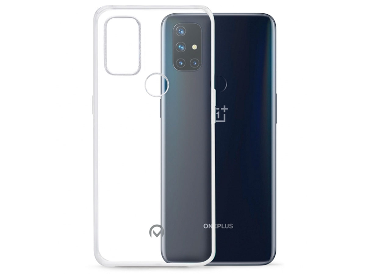 Mobilize Clear TPU Case - OnePlus Nord N10 hoesje Transparant