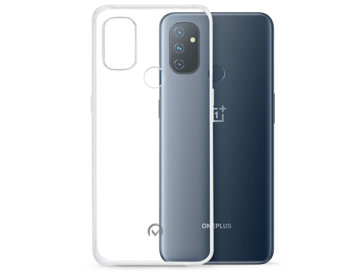 Mobilize Clear TPU Case - OnePlus Nord N100 hoesje Transparant