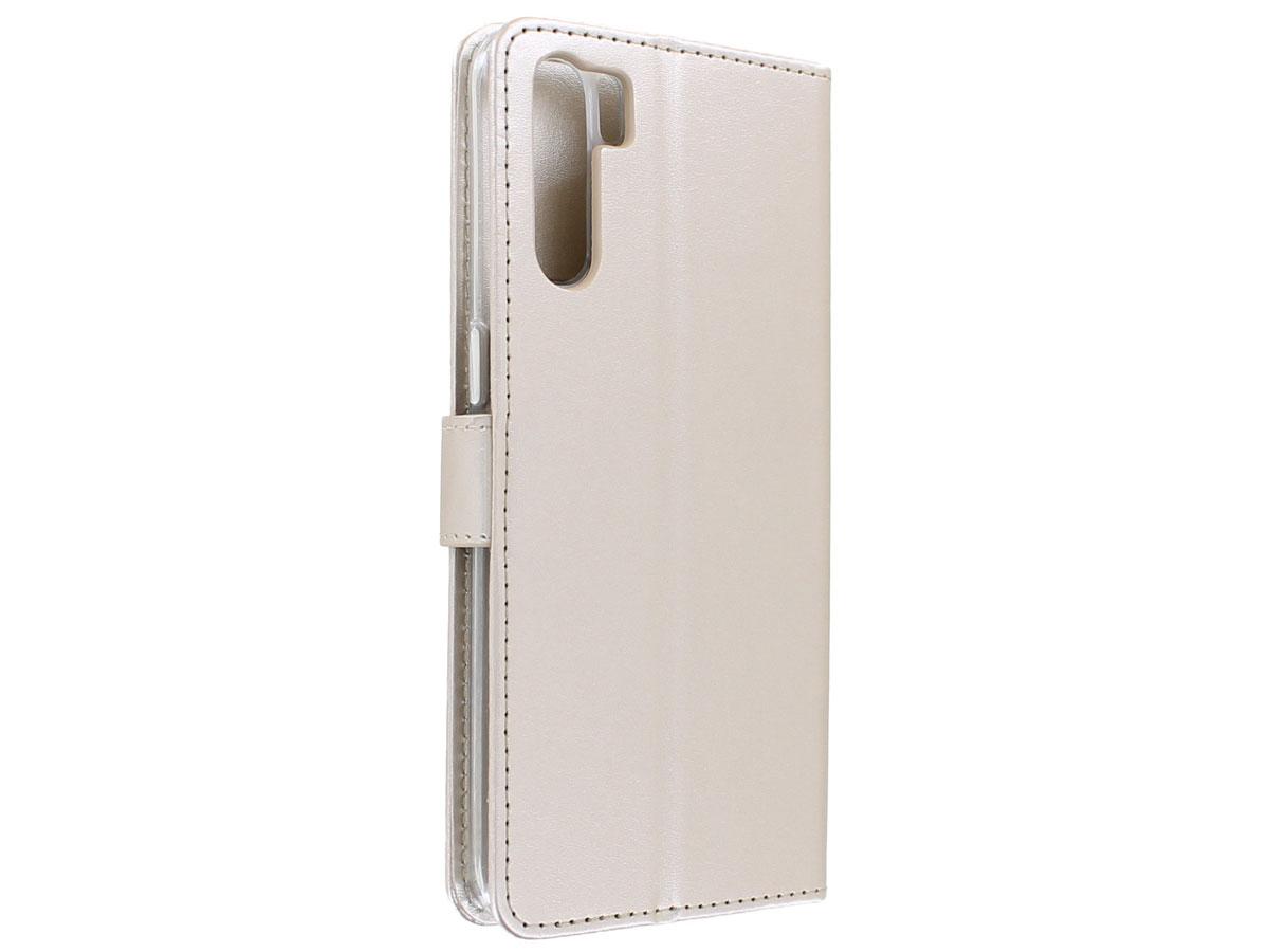 Bookcase Mapje Goud - Oppo A91 hoesje