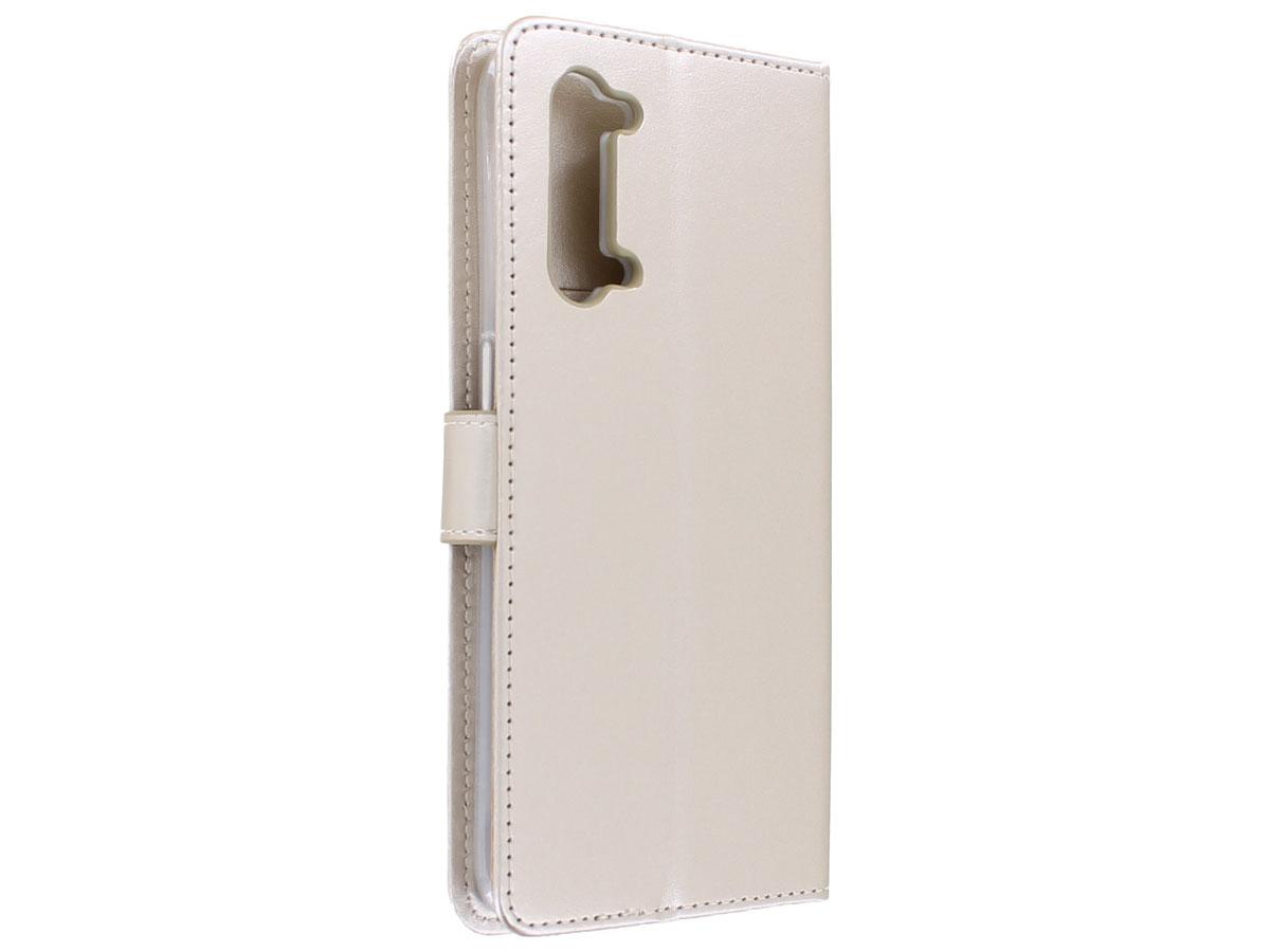 Bookcase Mapje Goud - Oppo Find X2 Lite hoesje