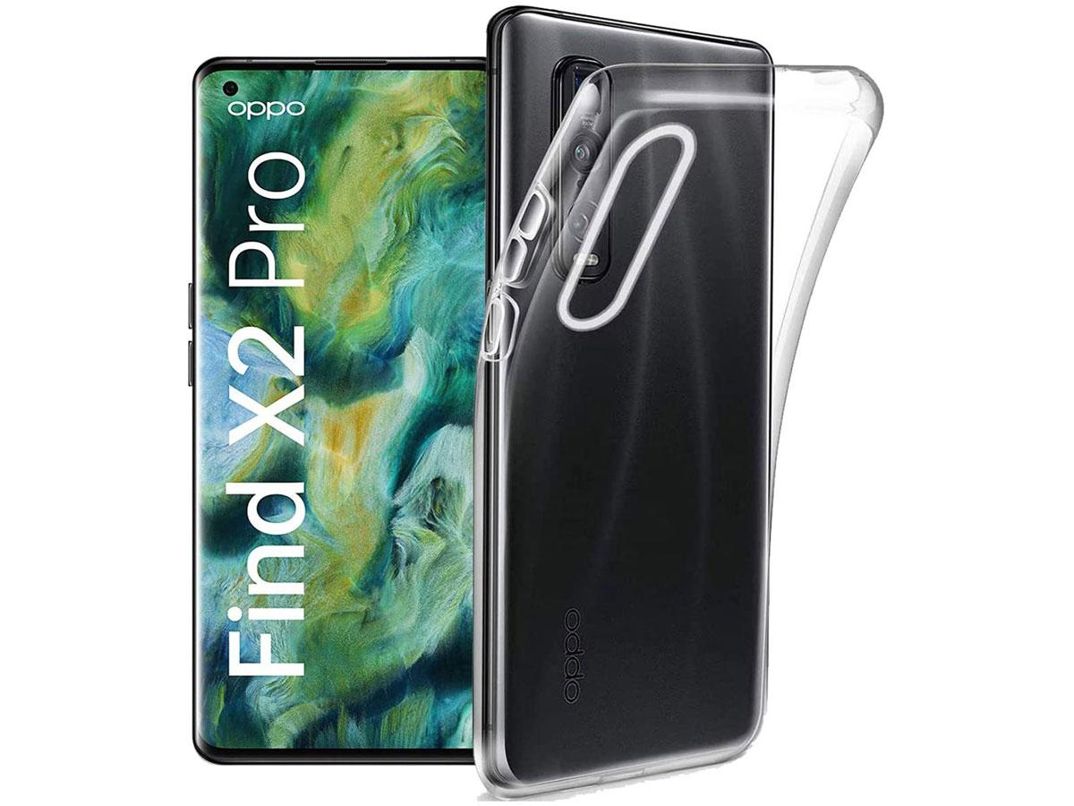 Crystal TPU Skin Case - Doorzichtig Oppo Find X2 Pro hoesje