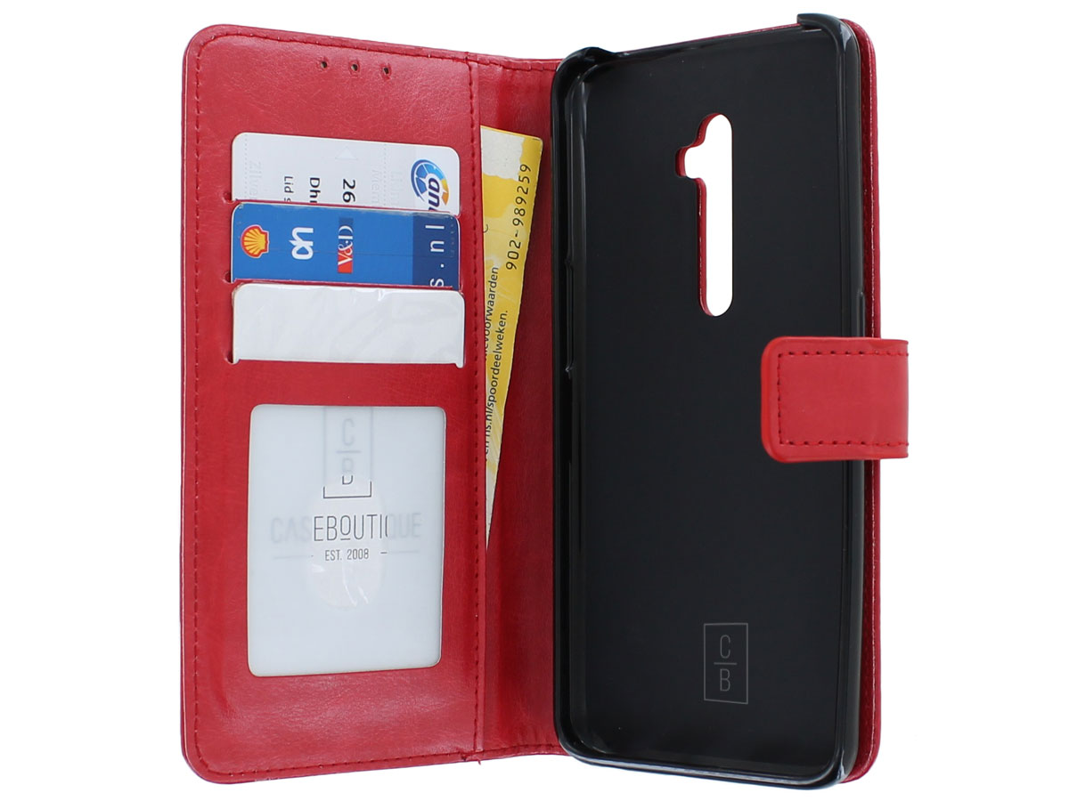 Wallet Book Case Mapje Rood - Oppo Reno 2 hoesje