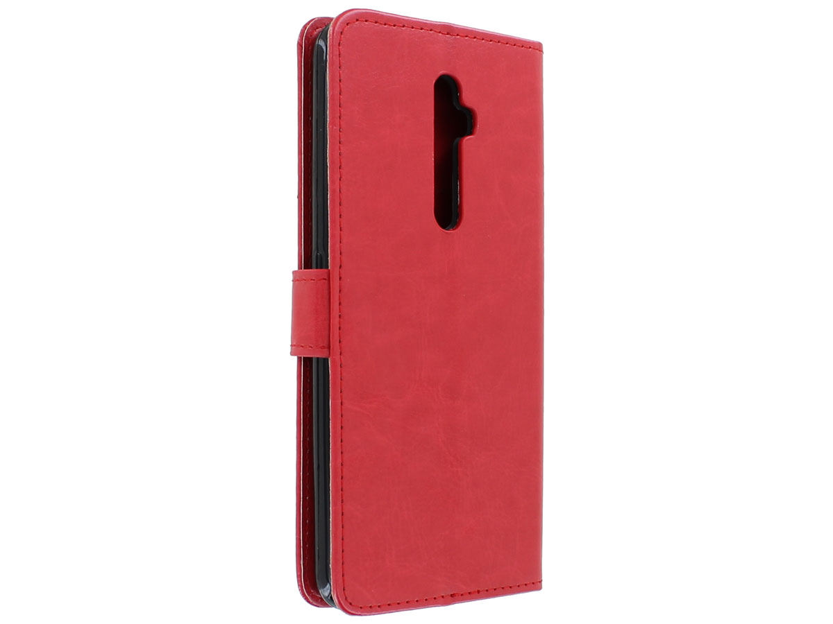 Wallet Book Case Mapje Rood - Oppo Reno 2Z hoesje