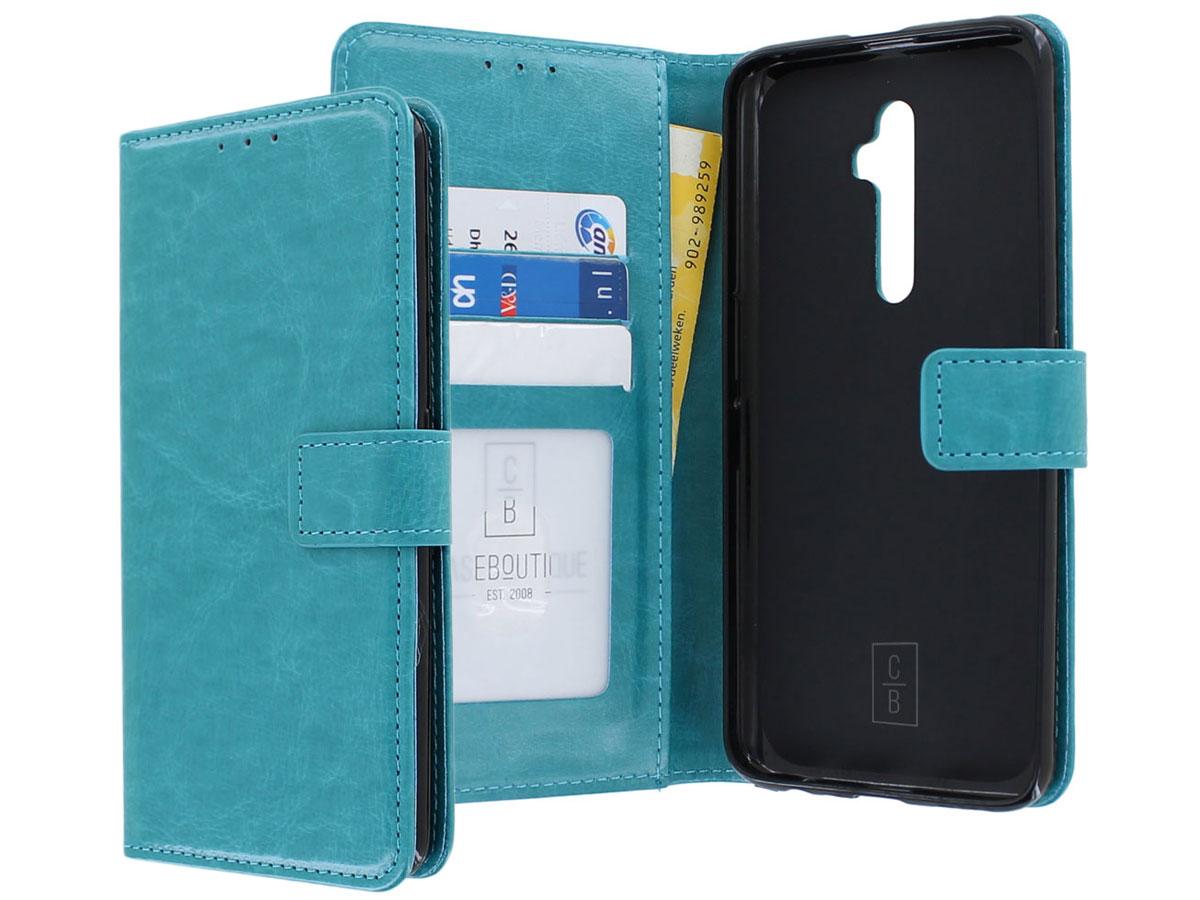 Wallet Book Case Mapje Turquoise - Oppo Reno 2Z hoesje