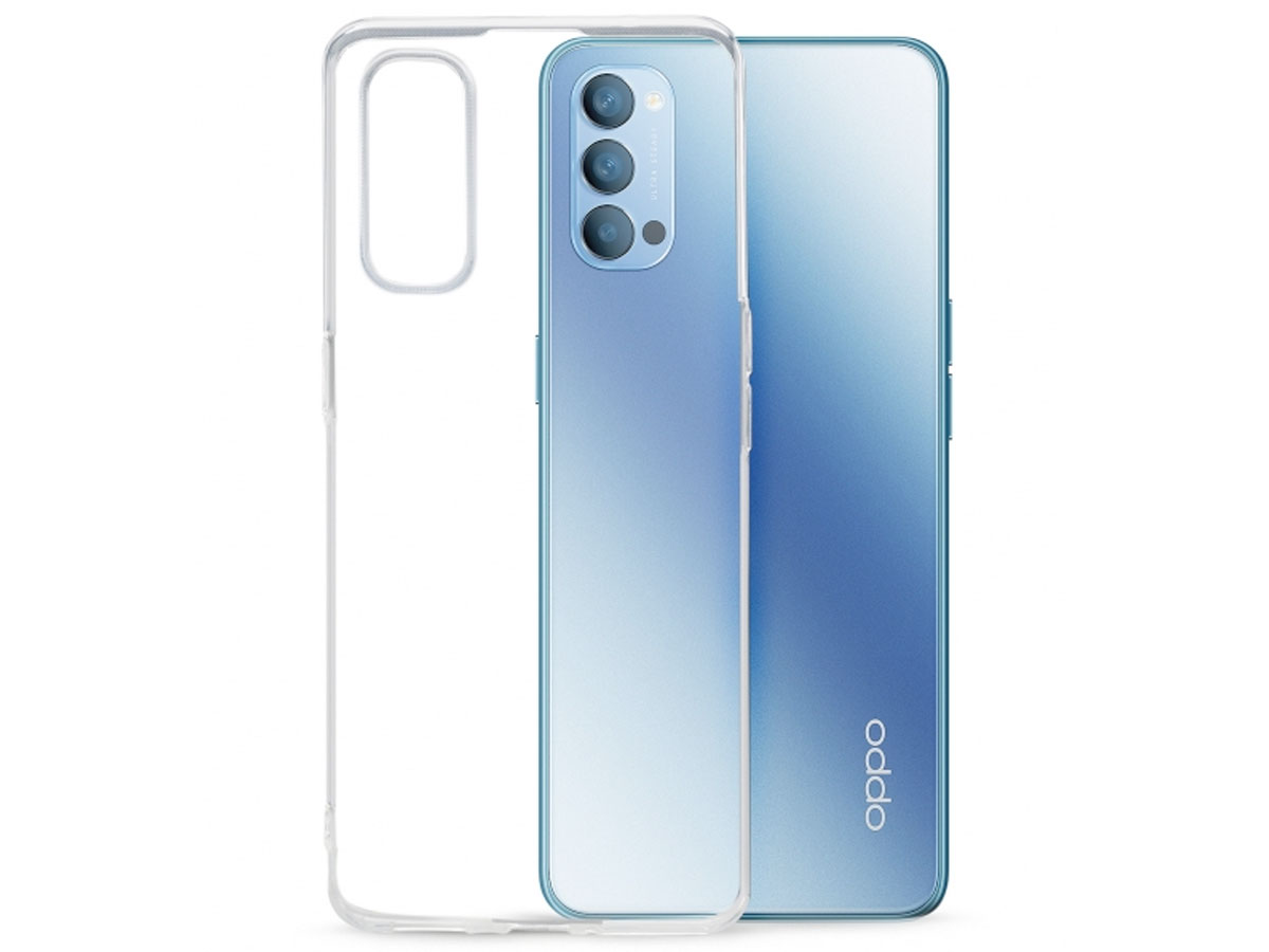 Mobilize Clear TPU Case - Oppo Reno 4 5G hoesje Transparant