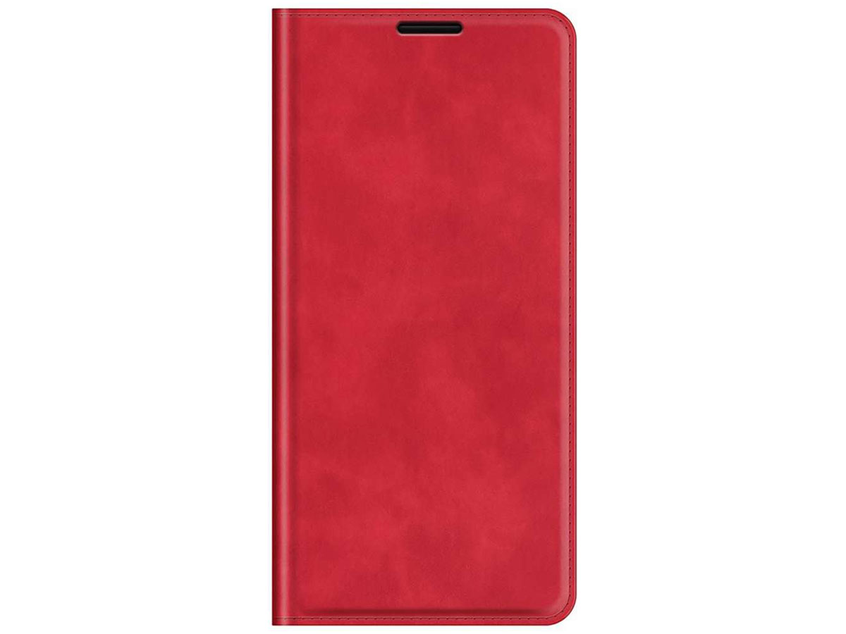Just in Case Magnetic BookCase Rood - Oppo Reno6 5G hoesje