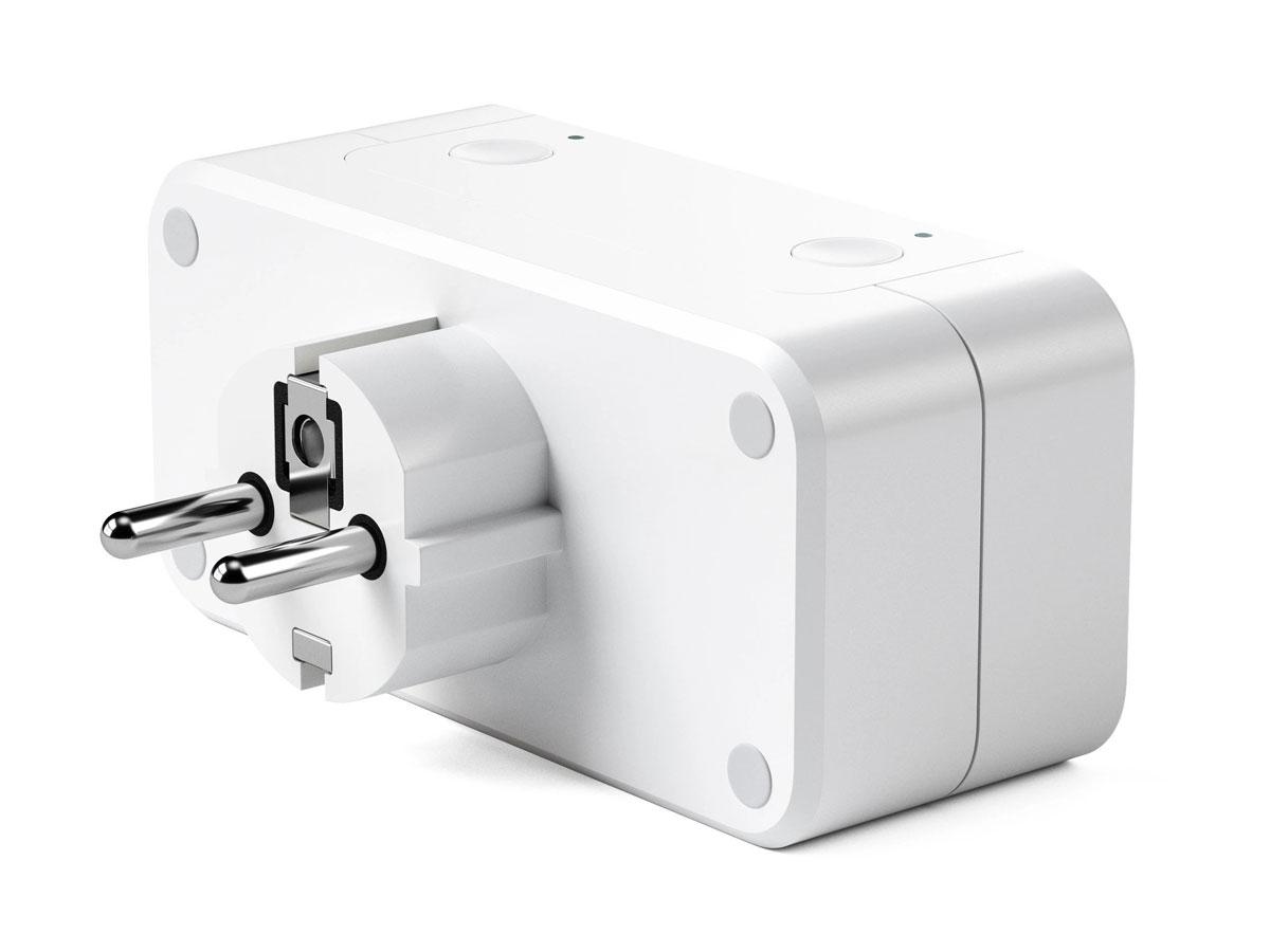 Satechi Dual Smart Outlet - Slim Dubbel Stopcontact (Homekit)