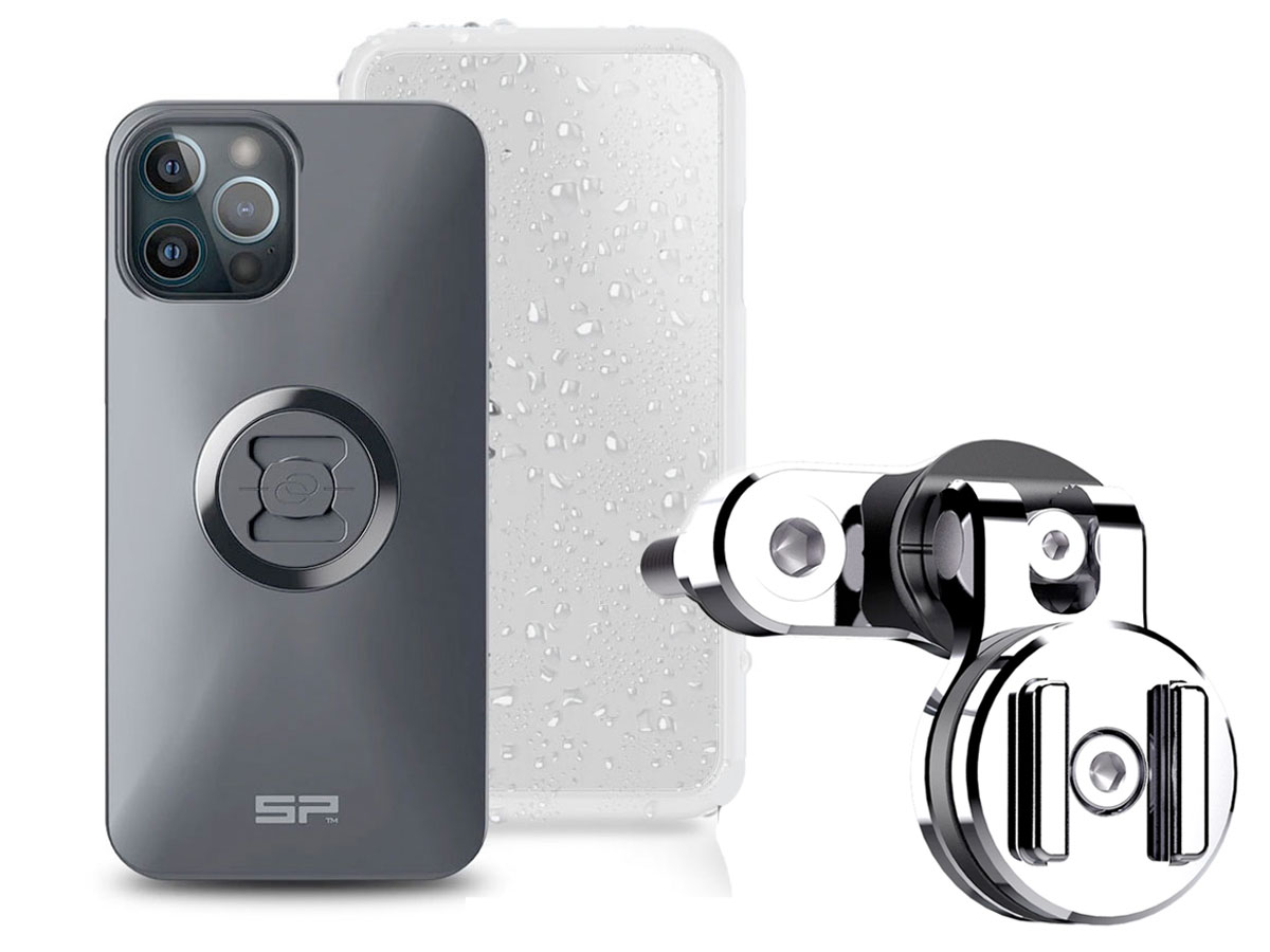 SP-Connect Clutch Bundle Chrome - iPhone 11 Pro Max/Xs Max Motorhouder Chroom