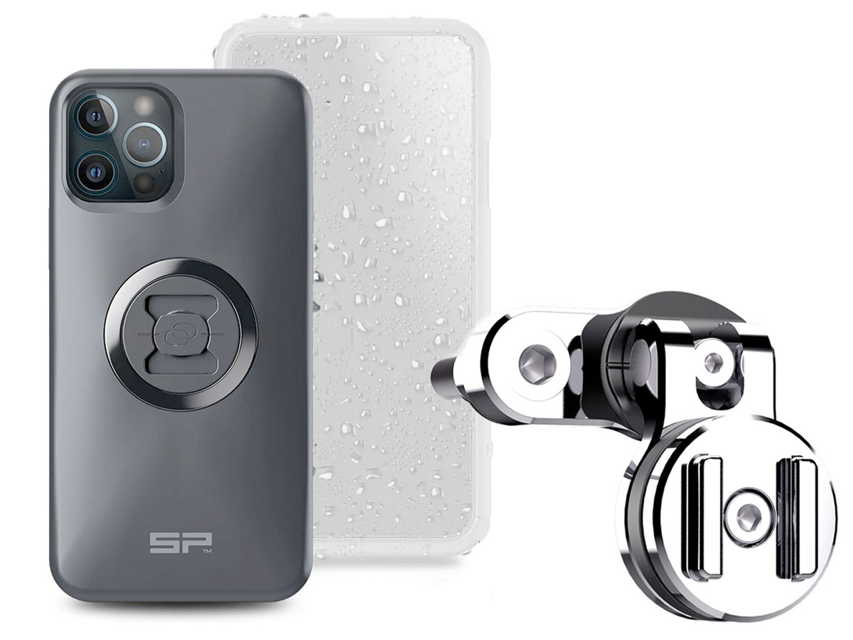 SP-Connect Clutch Bundle Chrome - iPhone 11 Pro / X / Xs Motorhouder Chroom