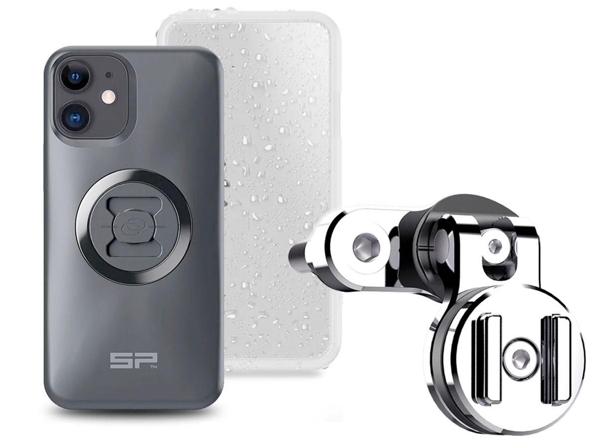SP-Connect Clutch Bundle Chrome - iPhone 11 / XR Motorhouder Chroom