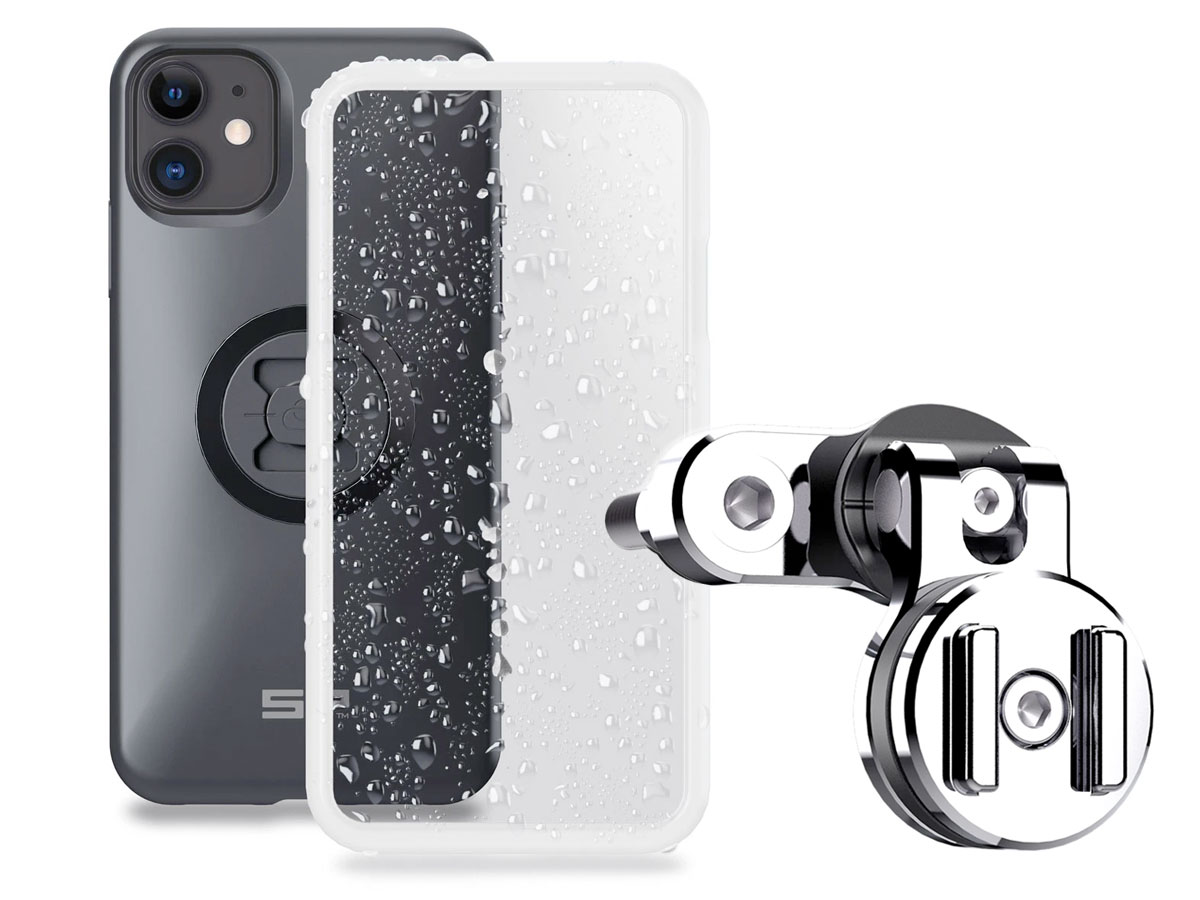 SP-Connect Clutch Bundle Chrome - iPhone 12 Mini Motorhouder Chroom