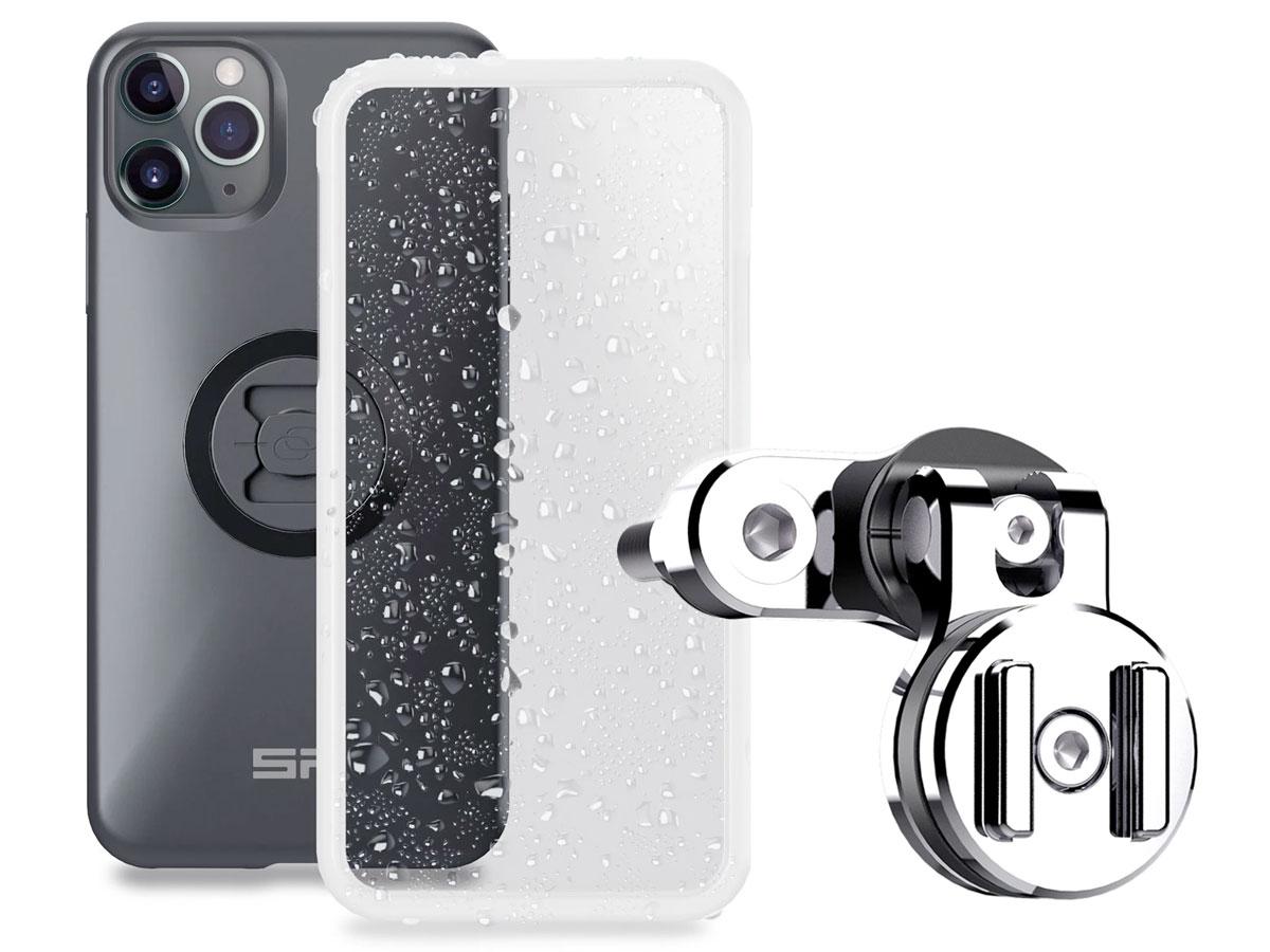 SP-Connect Clutch Bundle Chrome - iPhone 12 Pro Max Motorhouder Chroom