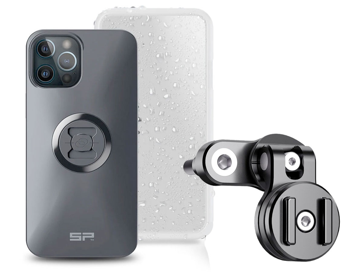 SP-Connect Clutch Bundle - iPhone 12 Pro Max Motorhouder Zwart