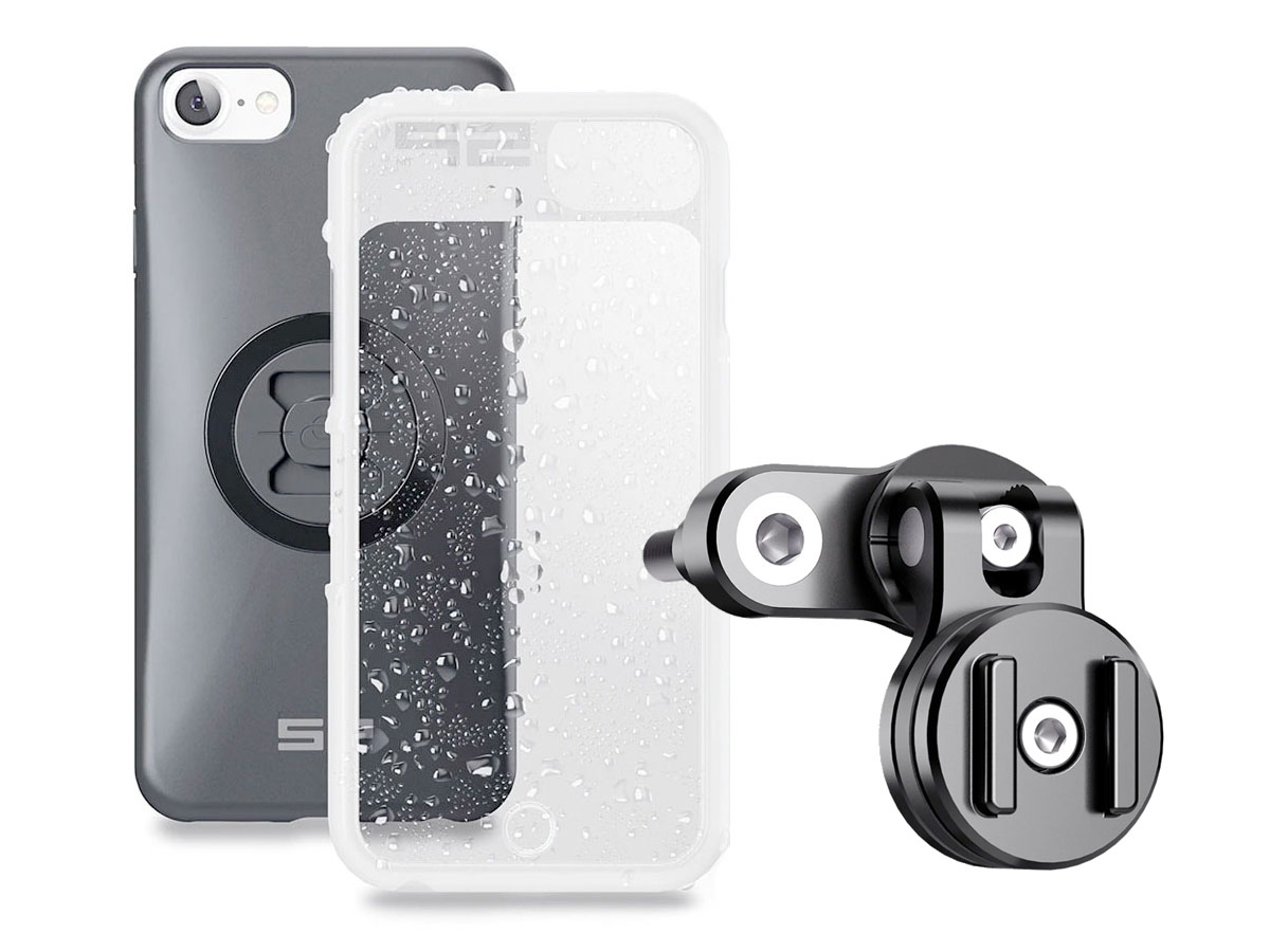 SP-Connect Clutch Bundle - iPhone SE 2020/8/7/6 Motorhouder Zwart