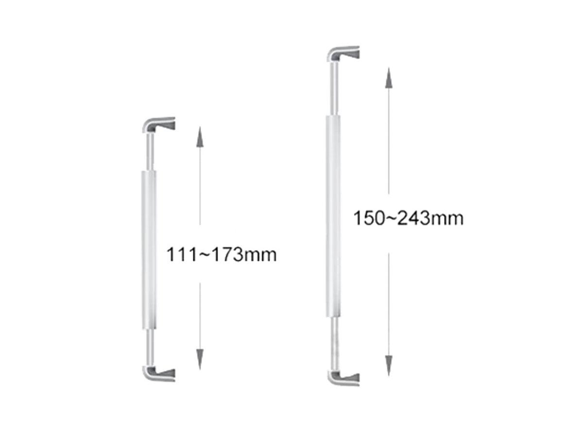 Aluminium Tablet Floor Stand Zwart - Tablet Vloerstandaard