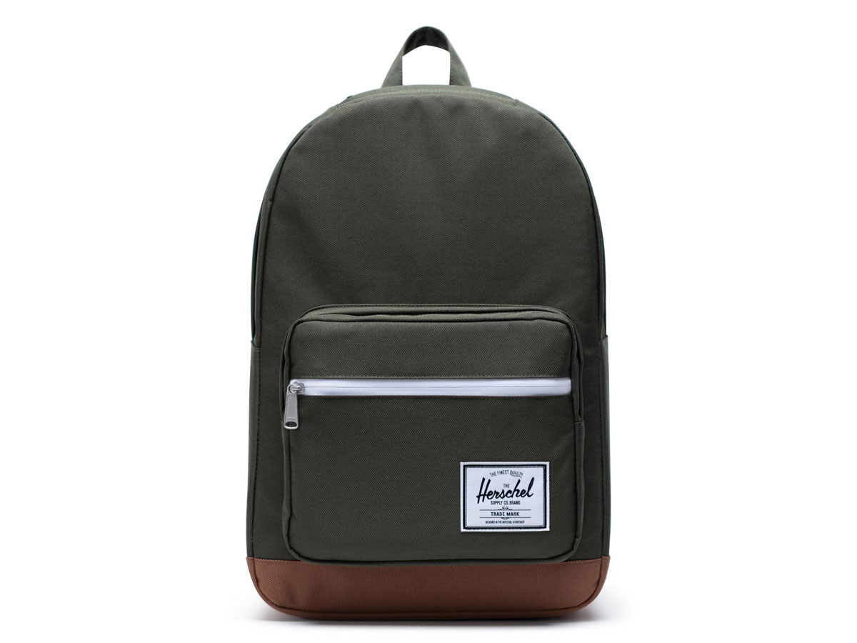 Herschel Supply Co. Pop Quiz Rugzak - Dark Olive/Saddle Brown