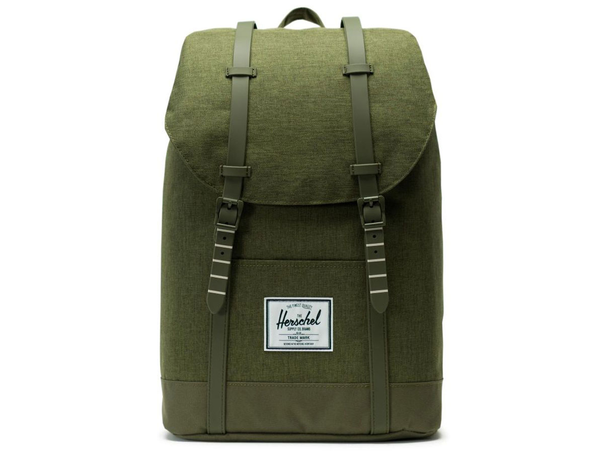 63753689630 Retreat Rugzak - Olive Night Crosshatch; Herschel Supply Co. Retreat Rugzak  - Olive Night Crosshatch ...