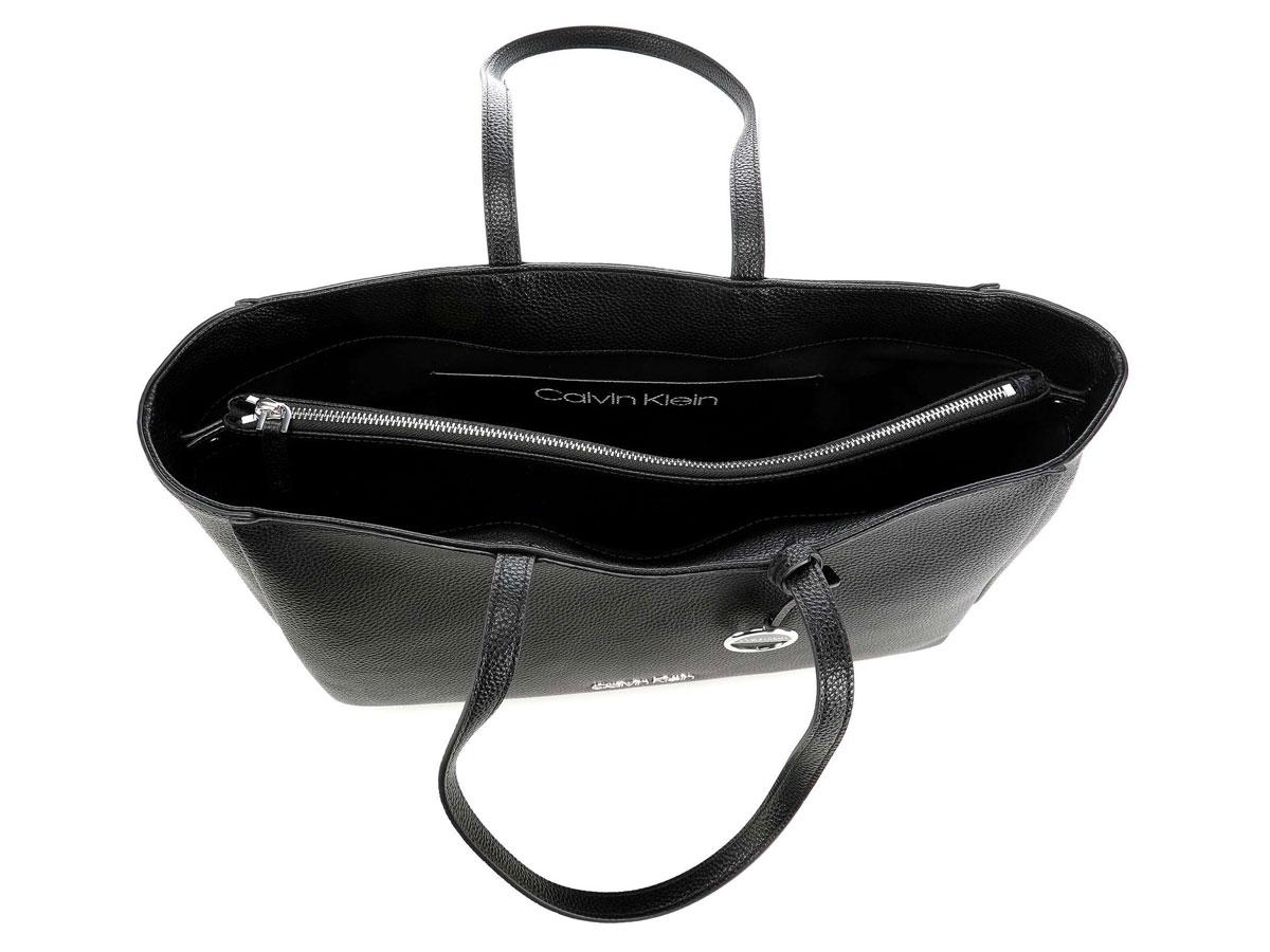 Calvin Klein Sided Shopper Tas met Uitneembare Laptopsleeve (Zwart)