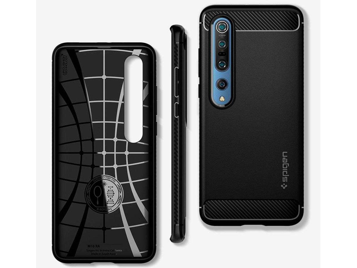 Spigen Rugged Armor Case Zwart - Xiaomi Mi 10 (Pro) Hoesje