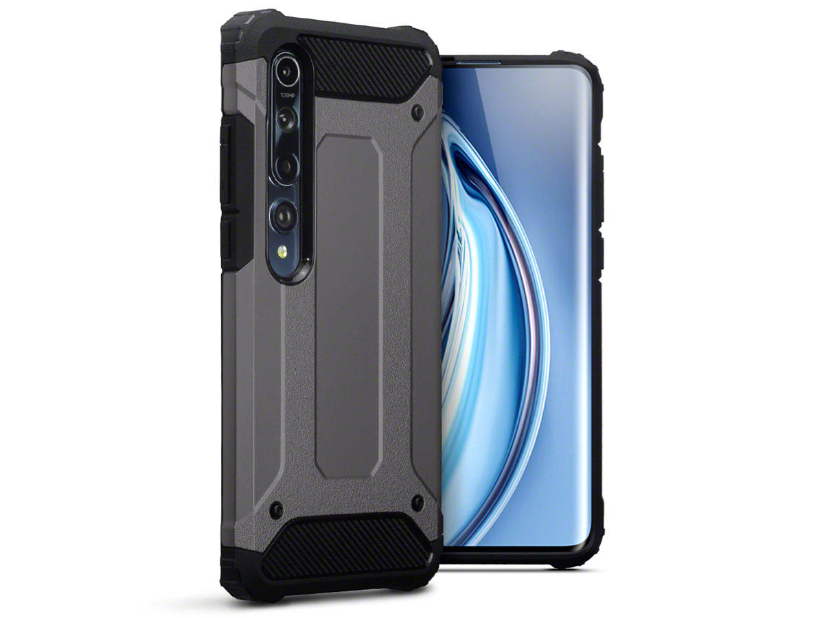 CaseBoutique Xtreme Rugged Case Grijs - Xiaomi Mi 10 Hoesje