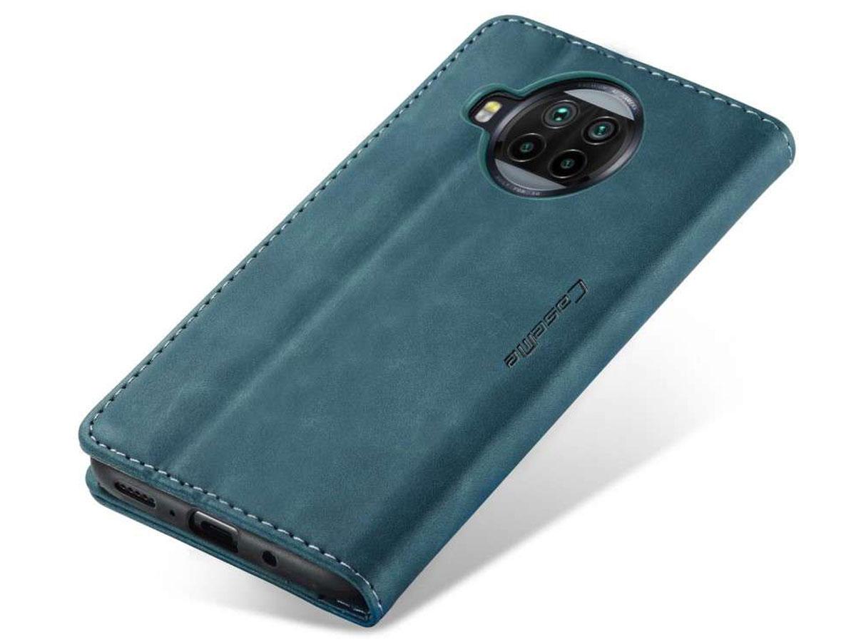 CaseMe Vintage BookCase Blauw - Xiaomi Mi 10 Lite hoesje