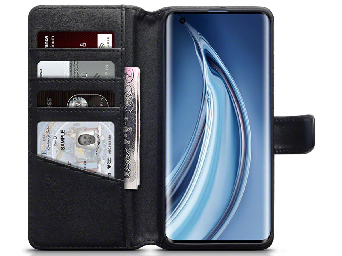 CaseBoutique Wallet Case Zwart Leer - Xiaomi Mi 10 Pro hoesje