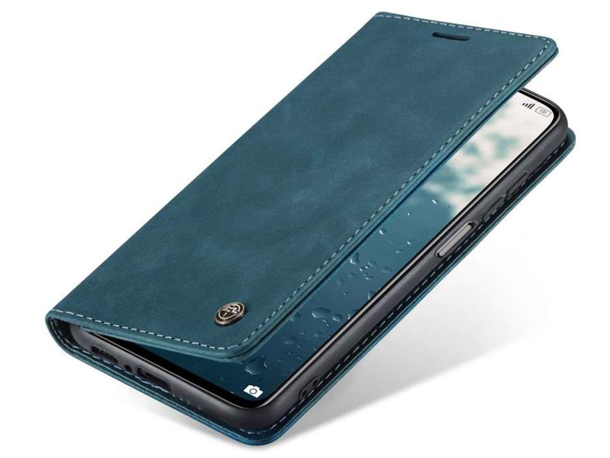 CaseMe Vintage BookCase Blauw - Xiaomi Mi 10T (Pro) hoesje