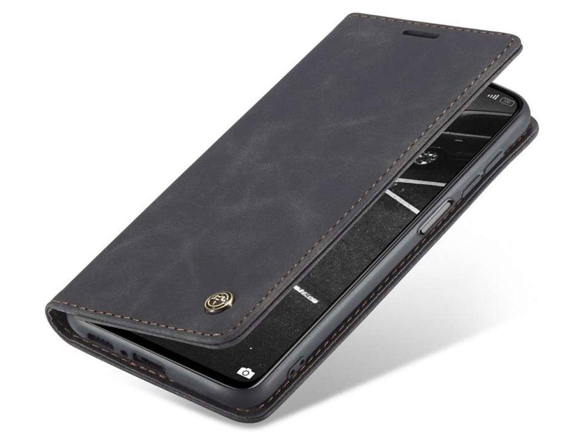 CaseMe Vintage BookCase Zwart - Xiaomi Mi 10T (Pro) hoesje