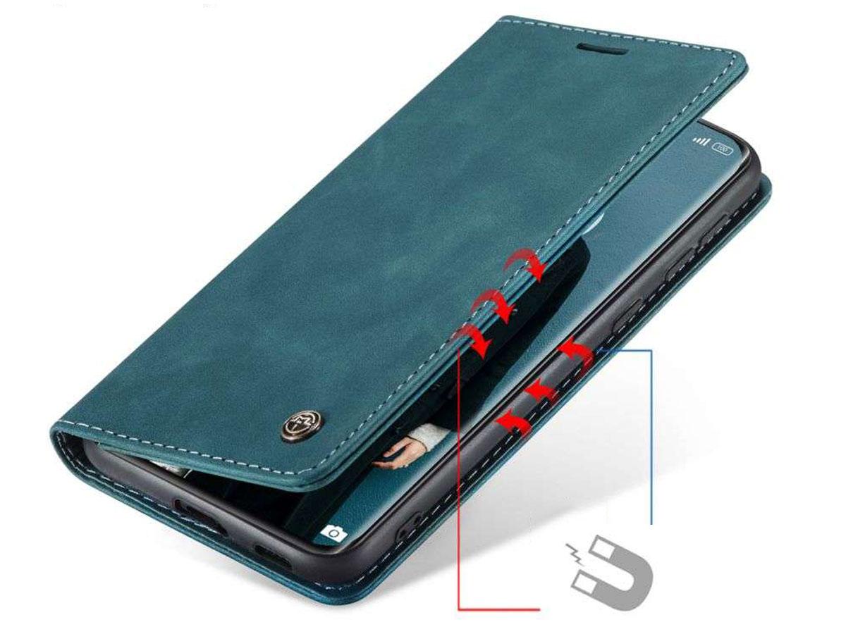CaseMe Vintage BookCase Blauw - Xiaomi Mi 11 hoesje