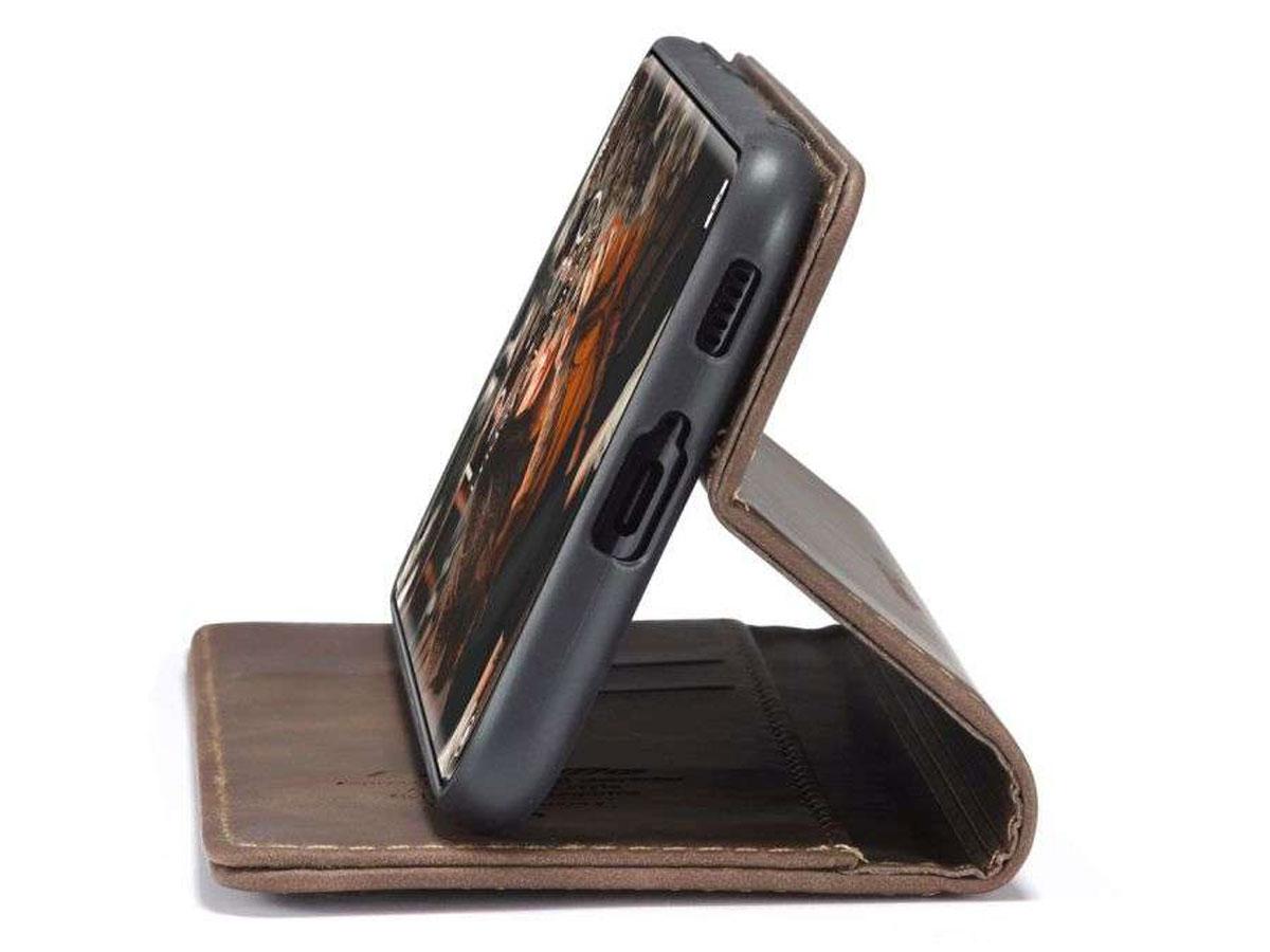 CaseMe Vintage BookCase Bruin - Xiaomi Mi 11 hoesje
