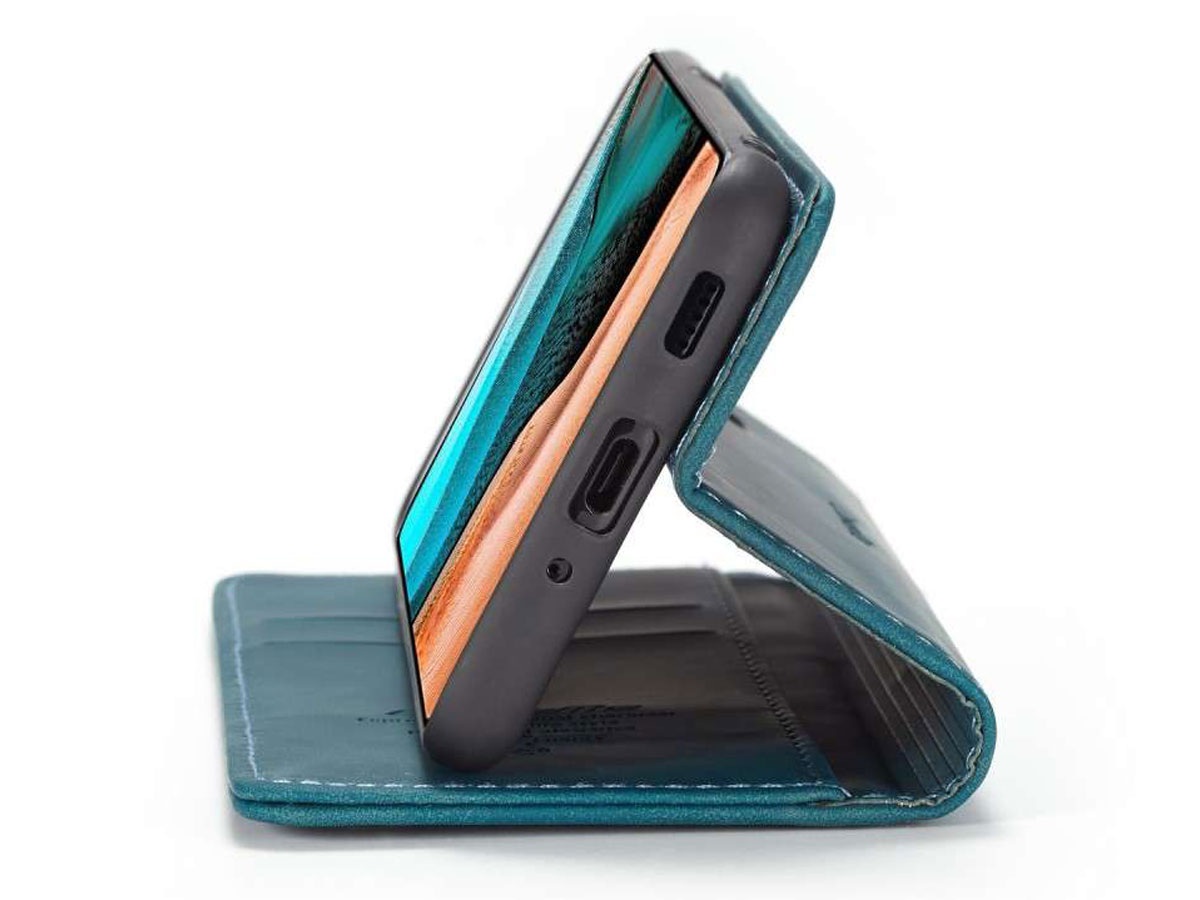 CaseMe Vintage BookCase Blauw - Xiaomi Poco F2 Pro hoesje