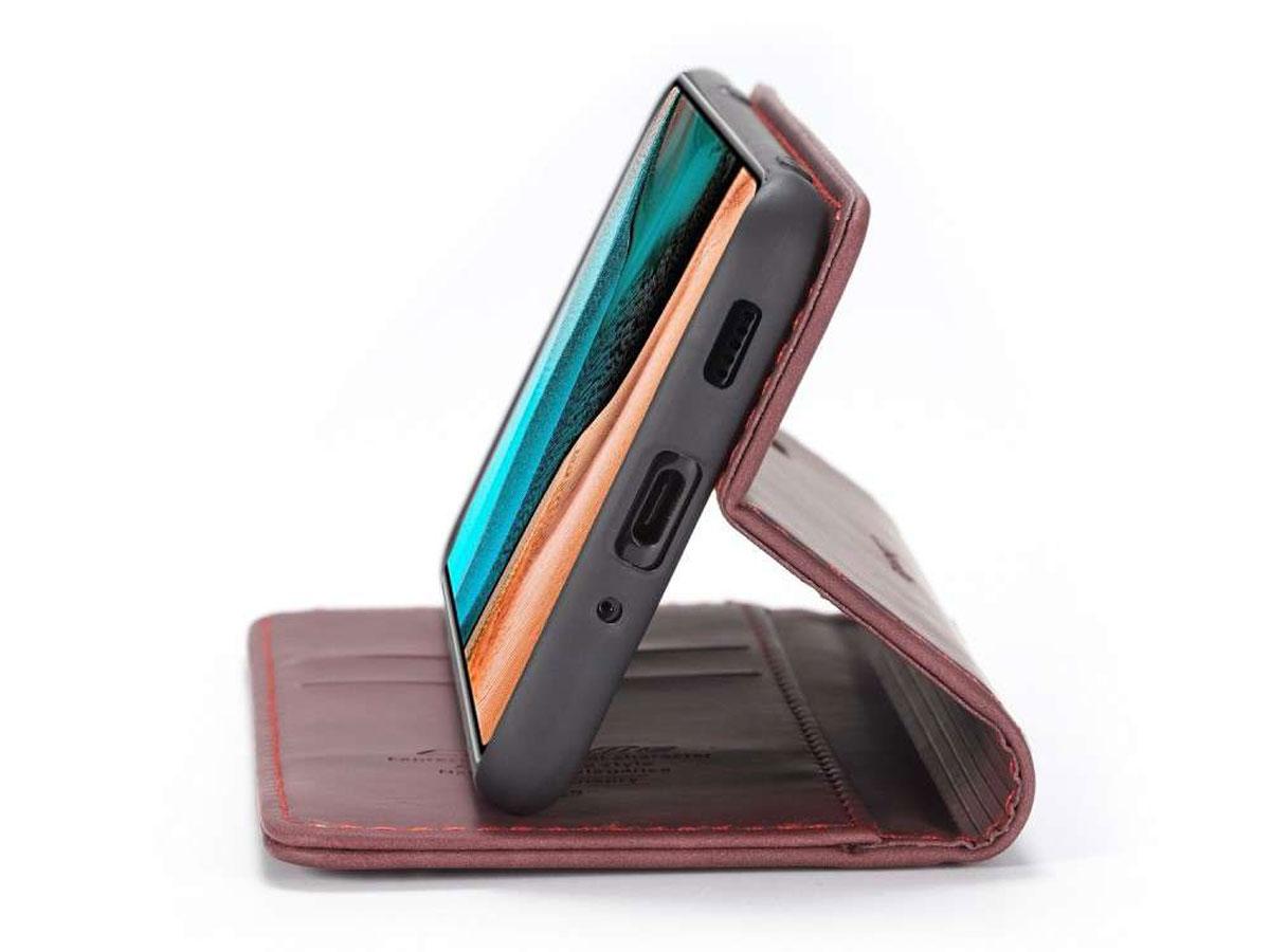 CaseMe Vintage BookCase Rood - Xiaomi Poco F2 Pro hoesje