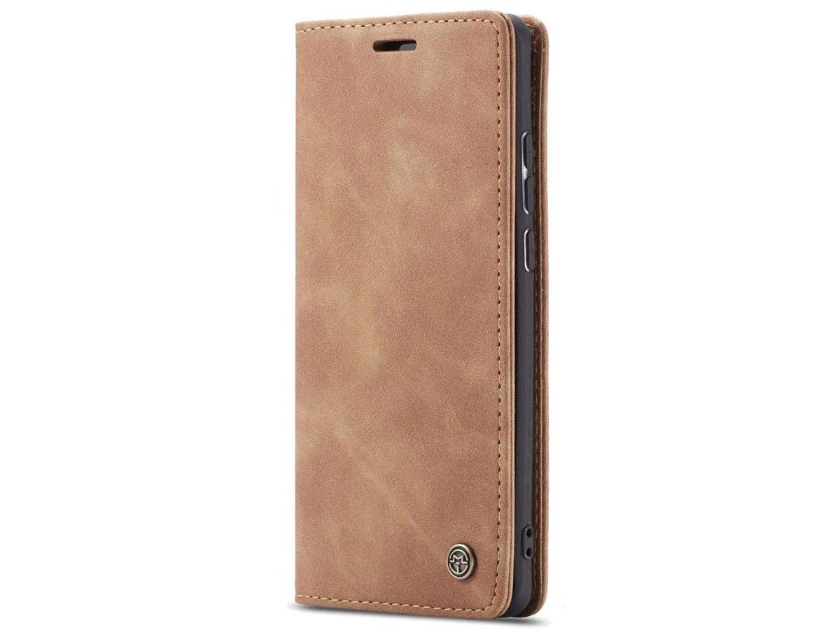 CaseMe Vintage BookCase Tan - Xiaomi Poco F2 Pro hoesje