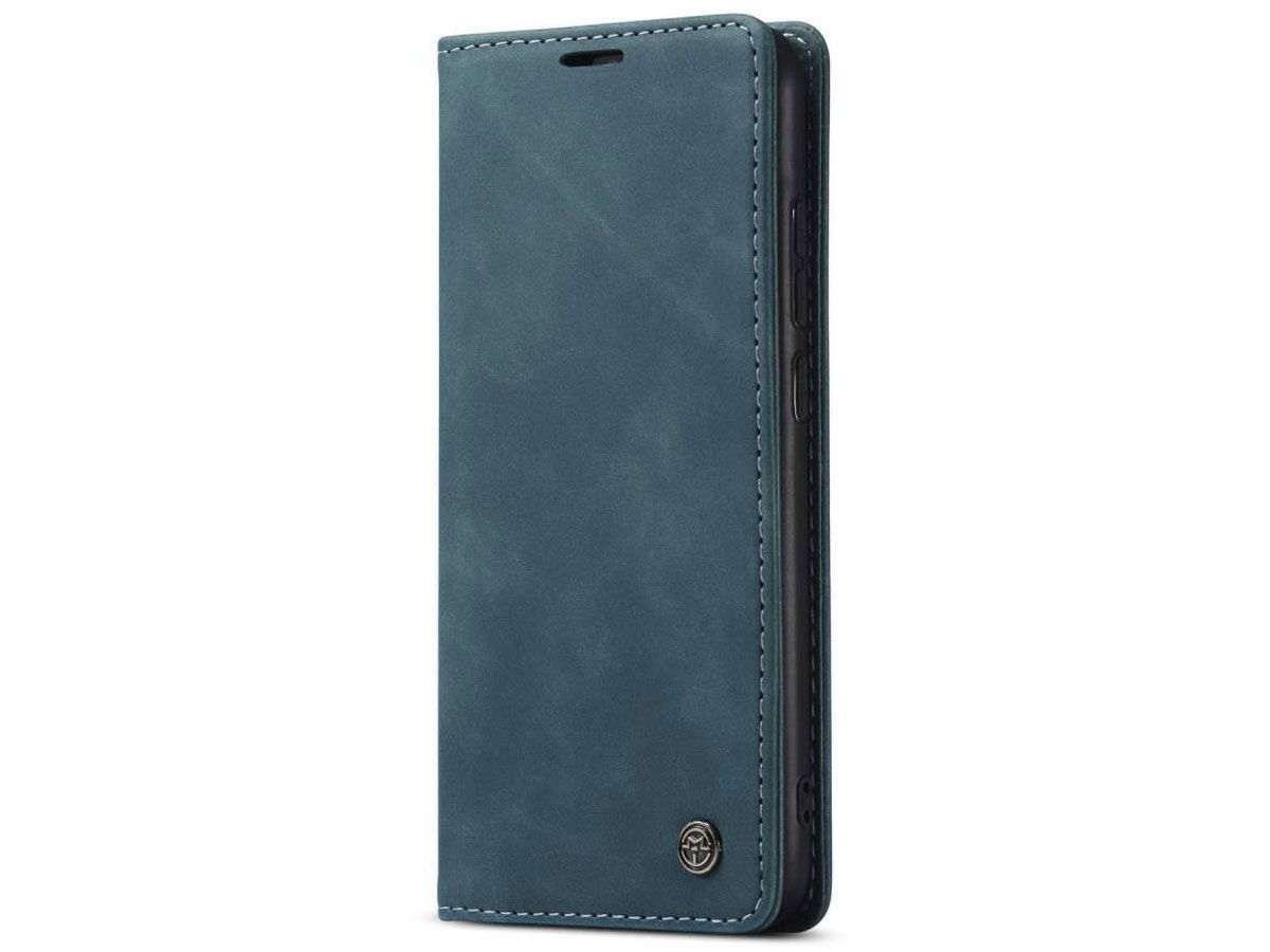 CaseMe Vintage BookCase Blauw - Xiaomi Redmi Note 8 hoesje
