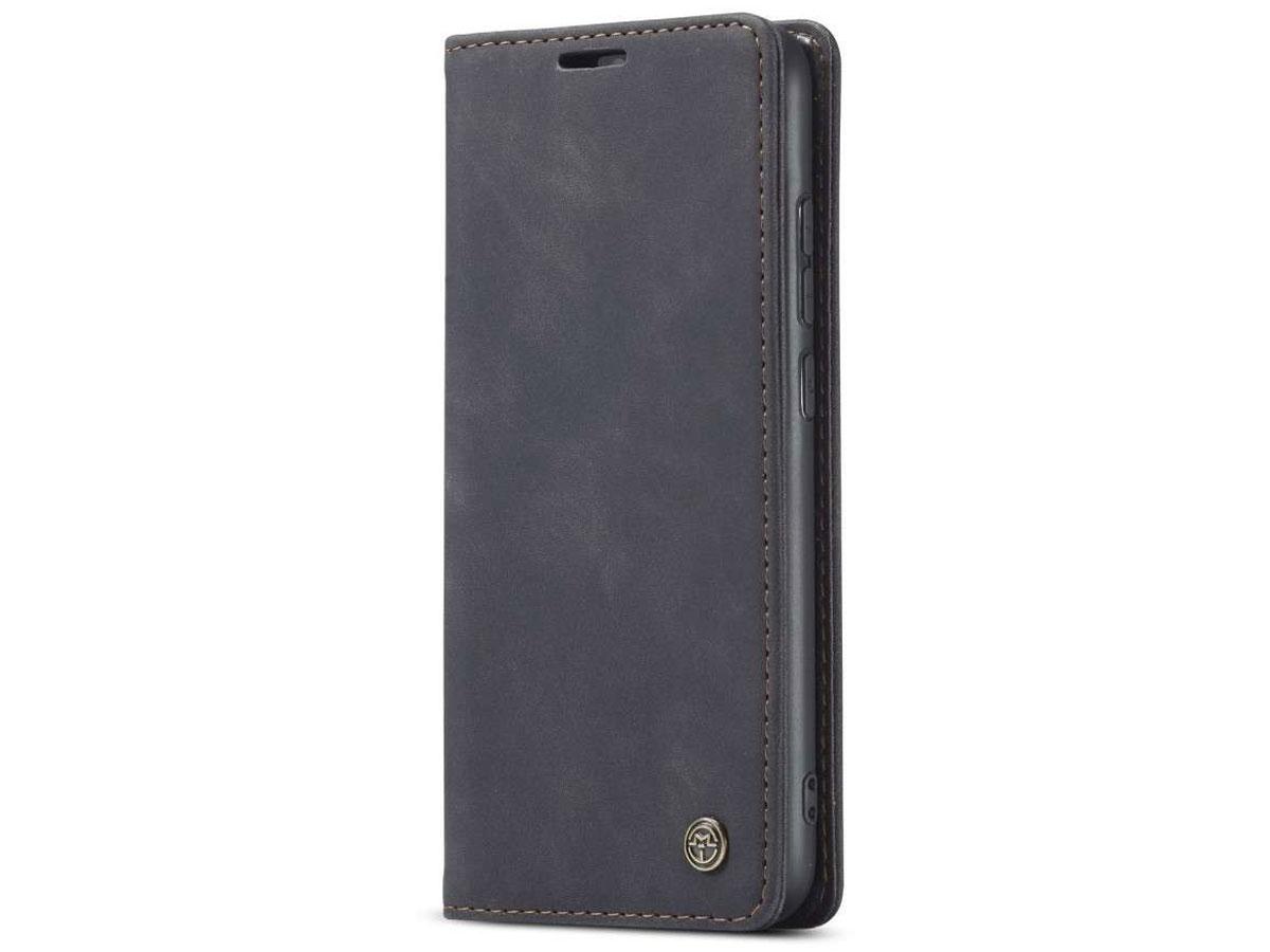 CaseMe Vintage BookCase Zwart - Xiaomi Redmi Note 8 hoesje
